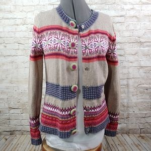 CHRISTOPHER & BANKS HAND KNIT SWEATER SZ SM